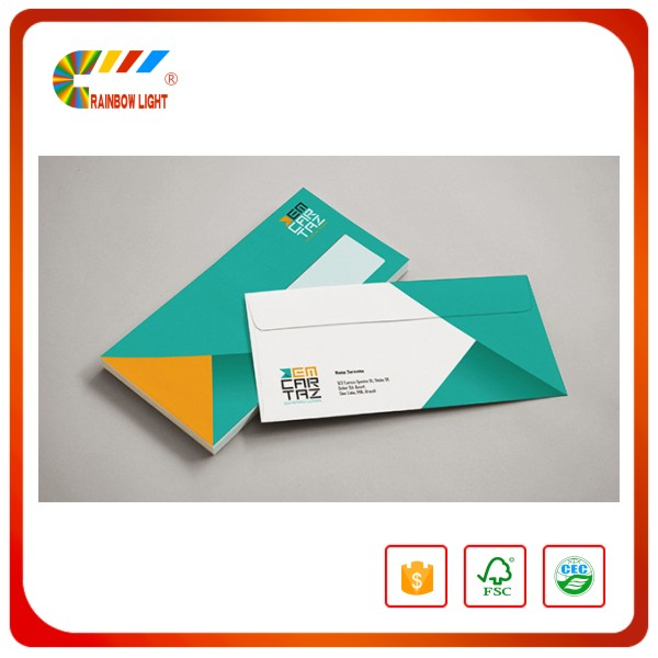 China high quality custom printed a3 a4 a5 szie paper business envelope