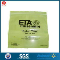 LDPE printed resealable bag with recycle Logo ziplock plastic bags