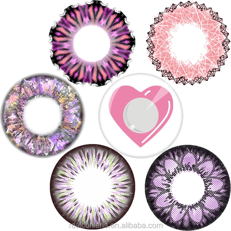 wholesale Realcon pink series VV brand-new design lovely colored contact lenses