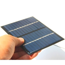 BUHESHUI Mini 1.5W 12V Solar Cell Module Polycrystalline Solar Panel+Cable Wire DIY Solar Battery Charger Study 115*90*3MM Epoxy