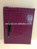 Wholesale price 360 rotation crocodile leather case for ipad4 for new ipad