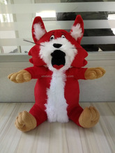 Custom forest cartoon stuffed animal sitting mini little red fox plush toy
