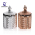 High Quality Cheap Glossy Silver Electroplating Glass Candle Holder