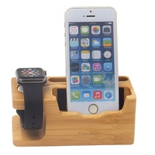 2017 desktop wood phone holder for watch mobile phone, wooden phone stand