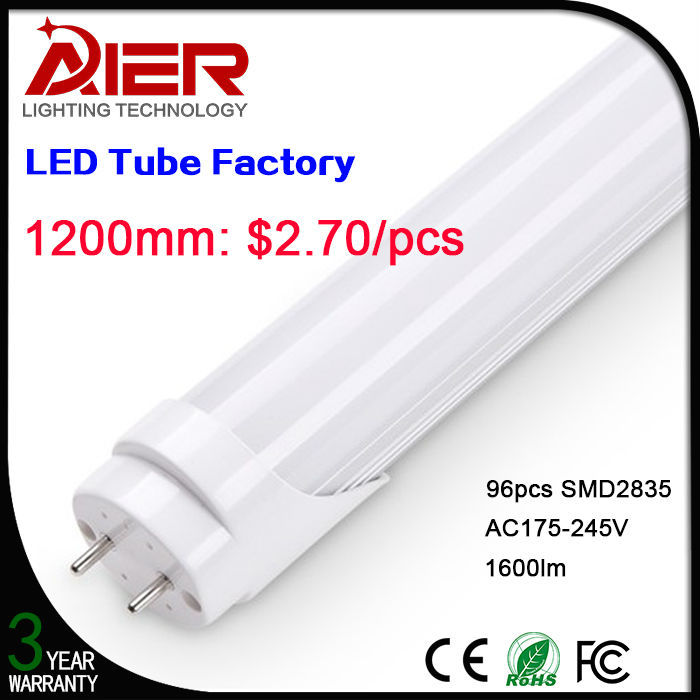 High Quality 1200mm T8 Plastic Cover Led Fluorescent Tube Light