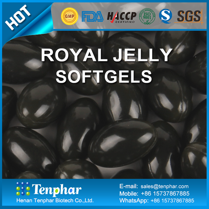 reduce blood fats sugar royal jelly extract soft gels capsules