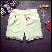 New Summer Fashion Large Size Casual Lace Men White Linen Shorts