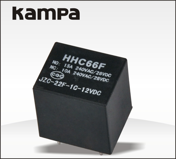 HHC66F 10a 250vac small size eletromagnetic pcb relay