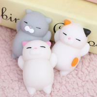 New Arrived 3D mini Squishy cat Soft Silicone Animal Squishy Toy Relieve Stress Fidget Hand cute cat Squeeze Pinch Toy