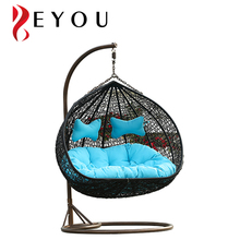 Morden garden outdoor swing chair hanging chair with cushion chair furniture