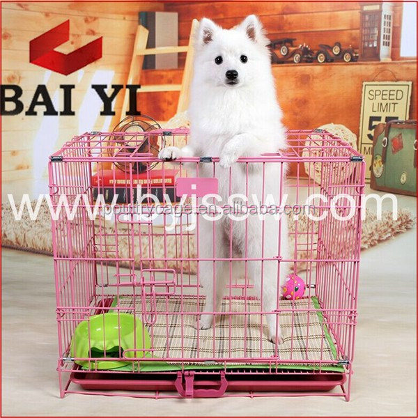 Baiyi Wholesale Small/Foldable Stainless Steel/Display Dog Cage