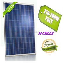 230w poly new high quality solar panel with bypass diode roof mounting brackets