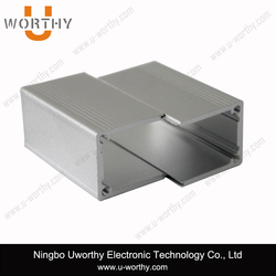 split body box type heat sink al6063 material extrud enclosure aluminum box electrical case with double end plates