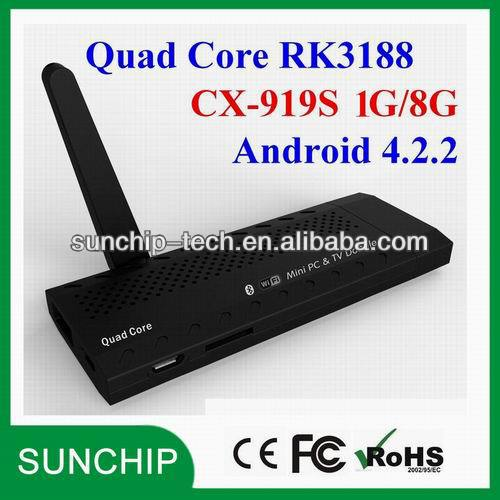 Quad Core CX-919S Bluetooth 4.0 DLNA RK3188 HDD Player