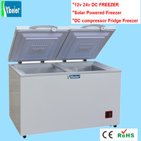 solar powered 12V 24v solar refrigerator 233l 303l.335l 433l fridge freezer DC freezer 233L