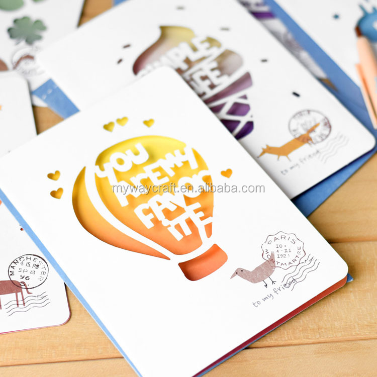 factory hot selling 3D handmade christmas/holiday greeting card with blank inner