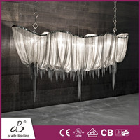 China Supplier Interior Decoration Boat Shape Metal Chain And Chrome Metal Led Chandeliers