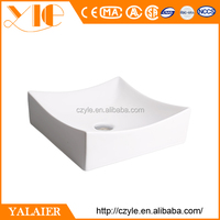 Wholesale manufacturing 400*400*130 white ceramic natural stone sink basin