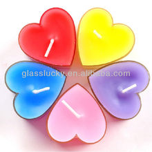 mini heart-shaped valentine's day glass Votive candle holders
