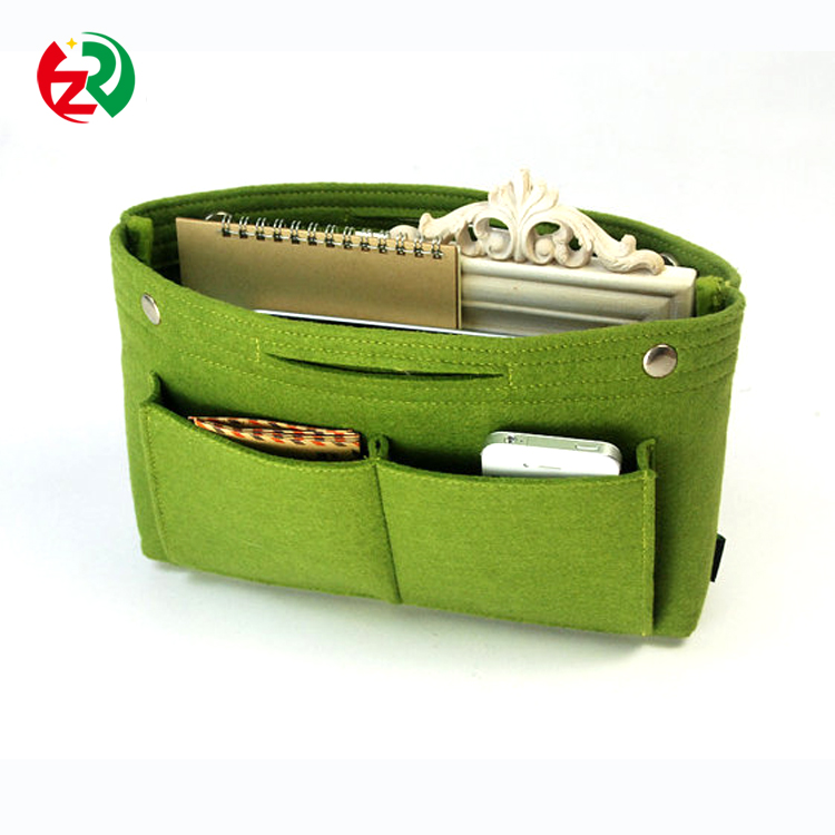 Amazon new arrival large capacity felt purse / bag organizer insert made in China