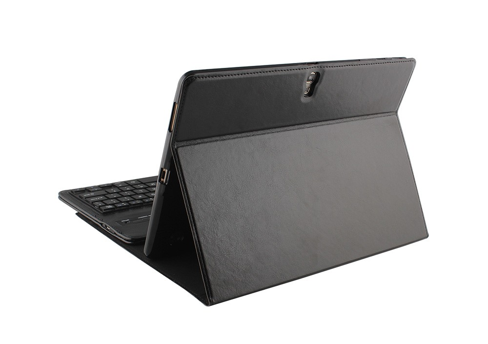 PU Leather Bluetooth Keyboard Case for Samsung Tab S 10.5 inch T800 With Stand,Plastic Keyboard is Removable-T800