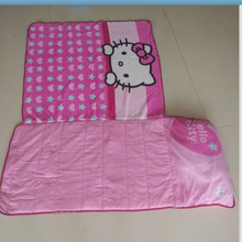 Daycare Preschool Girl Toddler Blanket Pillow Nap Mat, Slumber Bag for kids