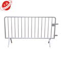 Temporary safety steel road pedestrian barriers