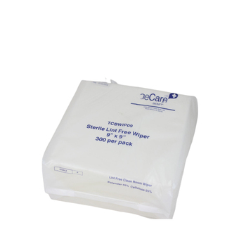Laboratory Lint Free High Absorbency White Flat Packed Disposable Cleanroom Wipes