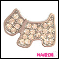 dog collar accessory 10mm slide dog charms for dog collar