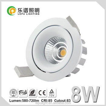 Lepu 83mm cutout COB Downlight IP44 Viking 95Ra 0-100% dimming 8w and 13w