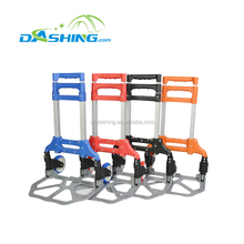 Wheels hand trolley, Folding aluminum luggage trolley cart, Moving foldable hand truck