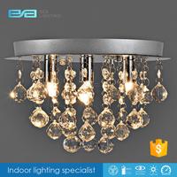 Bedroom crystal ceiling lamp,G9 ceiling light,flush mounted ceiling lamp 1103232