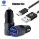 Hot 2 in 1 Package Nylon Micro USB Cable + 3.1A 12V Dual Ports Aluminum ABS Fireproof Material Car Charger USB Fast Charging