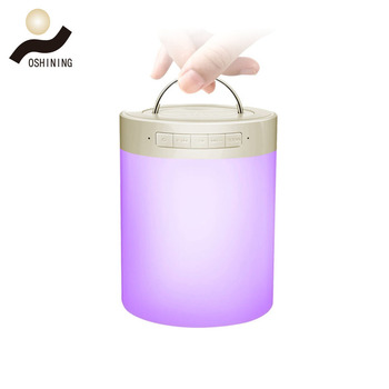 Portable Wireless Speaker with Colorful LED Lamp Night Light Camping Light and SD Card Slot Speaker