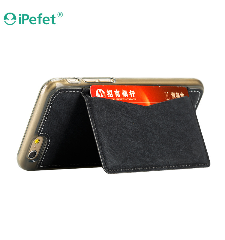 2016 New products wallet cell phone case with Credit Card Pocket Kickstand for iPhone 6