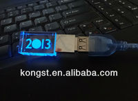 2013 New Products! Crystal USB flash drives with logo inside