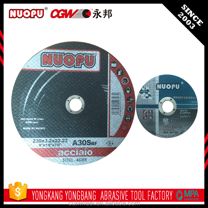 Smooth cut off stainless steel diamond cutting wheel for glass