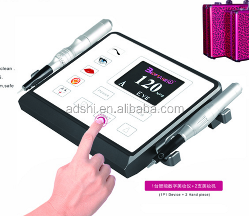 high quality digital permanent makeup screw needle machine,eyebrow tattoo makeup microblading machine