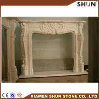Marble fireplace and for fireplace, Cream marfil marble fireplace, OEM marble fireplace