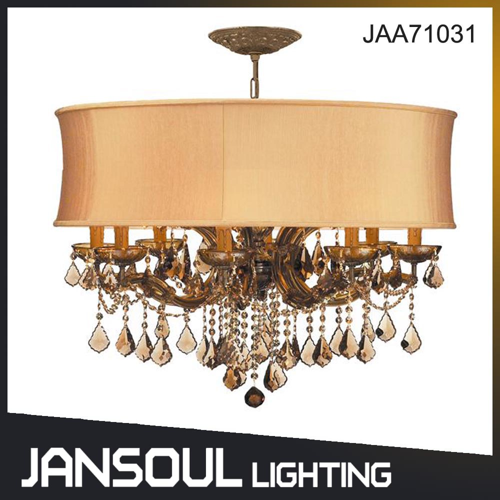 hot selling exquisite interior antique brass crystal lighting chandelier for villa or home living room or bedroom