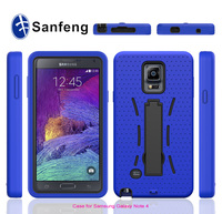Top selling manufacture price stand robot mobile phone covers for Samsung galaxy note 4 ,mobile phone case supplier