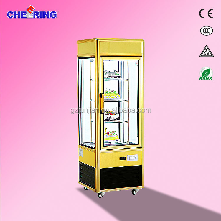 Guangzhou Junjian Customized wooden style showroom bakery cake bread display cabinet cake showcase display showcase for bakery