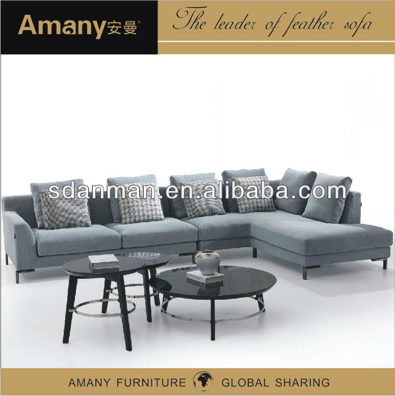 2013 new design l shape sofa A9837