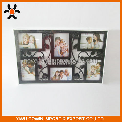Love Family Decoration Six Pictures Black Photo Frame