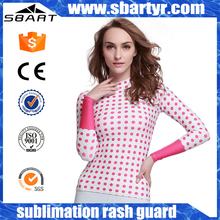SBART mma upf 50+ custom printed rashguard custom design printed rash guard wholesale gym clothing oem yoga wear service