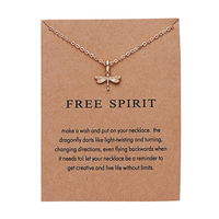 Wholesale most popular lucky best wishes gold plated jewellery pendant collarbone chain necklaces