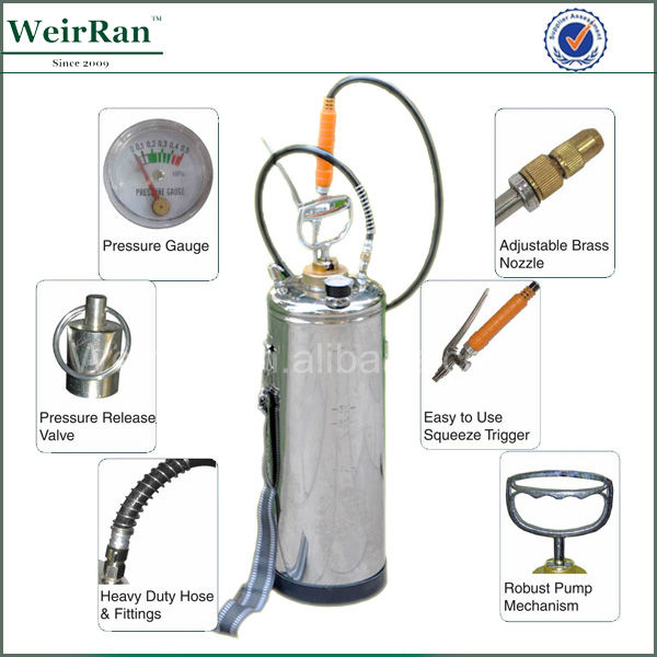 (101680) china high quality stainless steel pressure sprayer used pest control equipment