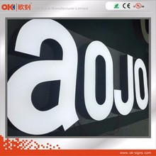 Laser Cutting Luminous Epoxy Resin Alphabet Letters Outdoor Sign Board