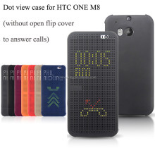 Dot View Flip Smart Case Cover For HTC One M8 M9 E8 E9 Eye Desire