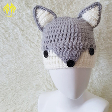 Winter handmade hats snow small fox children cartoon ear baby warm hat
